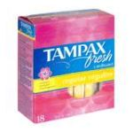 Tampax - Fresh Cardboard Tampons Regular Scented 18 tampons 0073010004412  / UPC 073010004412