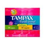 Tampax - Fresh Tampons With Flushable Cardboard Applicator 36 tampons 0073010004474  / UPC 073010004474