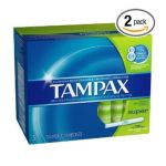 Tampax - Flushable Cardboard Applicator Super Absorbency Tampons 54 tampons 0073010006188  / UPC 073010006188