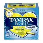 Tampax - Pearl Compak Plastic Regular Absorbency Unscented Tampons 20 tampons 0073010006867  / UPC 073010006867