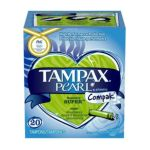 Tampax - Pearl Compak Plastic Super Absorbency Unscented Tampons 20 tampons 0073010006881  / UPC 073010006881