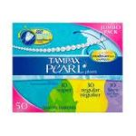 Tampax - Pearl Plastic Triple Pack Light Regular Super Absorbency Unscented Tampons 50 50 tampons 0073010009233  / UPC 073010009233