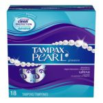 Tampax - Pearl Plastic Ultra Absorbency Unscented Tampons 18 tampons 0073010009868  / UPC 073010009868