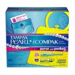 Tampax - Pearl For Purse And Pocket Regular Absorbency Unscented 36 tampons 0073010012189  / UPC 073010012189