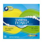 Tampax - Pearl Plastic Duo Pack Regular Super Absorbency Unscented 0073010013476  / UPC 073010013476