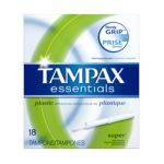 Tampax - Essentials Tampons With Plastic Applicator Unscented Super 0073010015418  / UPC 073010015418