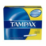 Tampax - Flushable Cardboard Applicator Regular Absorbency 40 0073010221109  / UPC 073010221109