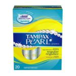 Tampax - Tampons With Plastic Applicator Regular Absorbency Unscented 20 tampons 0073010279131  / UPC 073010279131