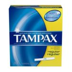 Tampax - Cardboard Regular Absorbency Tampons 20 ct 0073010280106  / UPC 073010280106