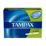 Tampax - Flushable Cardboard Applicator Super Absorbency 40 ct 0073010321106  / UPC 073010321106