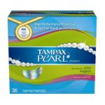 Tampax - Pearl Plastic Super Fresh Scent 36 tampons 0073010365193  / UPC 073010365193