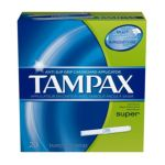 Tampax - Cardboard Super Absorbency Tampons 20 ct 0073010380103  / UPC 073010380103