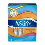 Tampax - Dist Co Tampax Pearl Tampons With Plastic Applicator Fresh Scent Super Plus 18 tampons 0073010478480  / UPC 073010478480