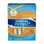 Tampax - Pearl Plastic Super Plus Unscented 18 0073010479050  / UPC 073010479050