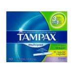 Tampax - Flushable Cardboard Applicator Multipax 40 0073010520288  / UPC 073010520288