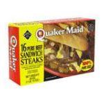 Quaker Oats - Pure Beef Sandwich Steaks 0073504500109  / UPC 073504500109
