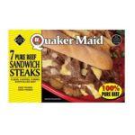 Quaker Oats - Pure Beef Sandwich Steaks 0073504501113  / UPC 073504501113