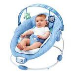 Kids II brands - Bright Starts Comfort & Harmony Baby Bouncer - Blue 0074451069251  / UPC 074451069251