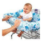 Kids II brands - Bright Starts Comfort & Harmony Cozy Cart Cover, Calypso Blue 0074451089716  / UPC 074451089716