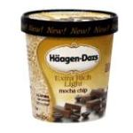 Häagen-Dazs - Super Premium Light Mocha Chip 0074570651061  / UPC 074570651061