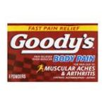 Goody -  Pain Reliever Fever Reducer 6 powders 0074684003251