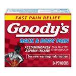 Goody -  Pain Reliever Fever Reducer 12 envelopes 0074684027677