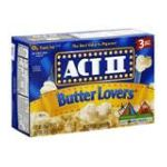 Act ii - Microwave Popcorn Butter Lover's Flavor 0076150075038  / UPC 076150075038