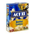 Act ii - Microwave Popcorn Butter Lovers 0076150075168  / UPC 076150075168