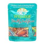 Wellness -  Adult Healthy Indulgence Chicken Crab And Herring Recipe Cat Food Pouches 0076344890805