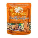 Wellness -  Healthy Indulgence Chicken & Chicken Liver Grain Free Cat Food Pouches 0076344890881