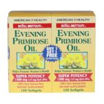 American health -  Evening Primrose Oil Royal Brittany Twin Pack 120+ 1300 mg, 120 softgels,120 count 0076630032339