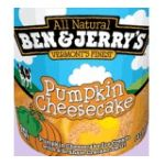 Ben & Jerry's - Limited Edition Ice Cream Pumpkin Cheesecake 16 0076840074037  / UPC 076840074037