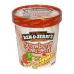 Ben & Jerry's - Sorbet Strawberry Kiwi Swirl 0076840100682  / UPC 076840100682