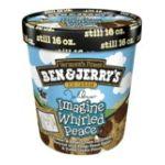 Ben & Jerry's - Imagine Whirled Peace Ice Cream 0076840101269  / UPC 076840101269