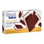Great Value -  Banana Split Ice Cream Sandwiches 0078742043678
