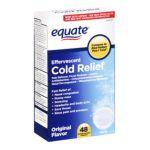 Equate -  Cold Relief Original Flavor Effervescent Tablets 0078742054520