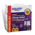 Equate -  Equate Allergy Relief Fexofenadine Compare To Allegra Allergy 180 mg,60 count 0078742071862