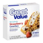 Great Value -  90 Calorie Strawberry Cereal Bars 0078742075044