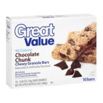 Great Value -  10 Chocolate Chunk Chewy Granola Bars 0078742082776