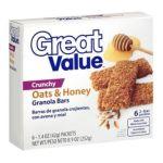 Great Value -  Crunchy Oats & Honey Granola Bars 0078742084992