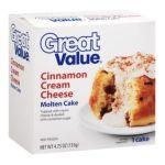Great Value -  Cinnamon Cream Cheese Molten Cake 0078742117027