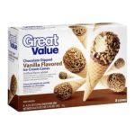 Great Value -  Chocolate Dipped Vanilla Flavored Ice Cream Cones 0078742142234