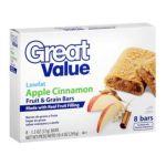 Great Value -  Apple Cinnamon Fruit & Grain Bars 0078742229157