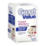 Great Value -  8 Frosted Wild Berry Toaster Pastries 0078742229584