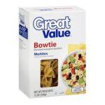 Great Value -  Bowties Pasta 0078742230498