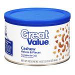 Great Value -  Cashew Halves & Pieces Nuts 0078742283197