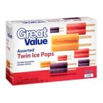 Great Value -  Assorted Twin Ice Pops 0078742374574