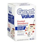 Great Value -  8 Frosted Strawberry Toaster Pastries 0078742431628