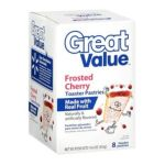 Great Value -  8 Frosted Cherry Toaster Pastries 0078742431635