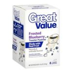 Great Value -  8 Frosted Blueberry Toaster Pastries 0078742433219
